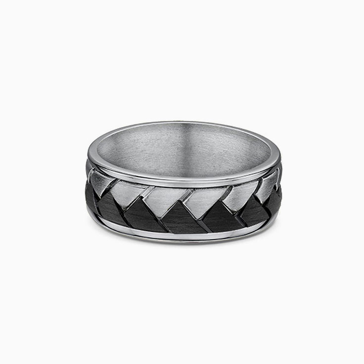 Plated Titanium mens ring 599B00