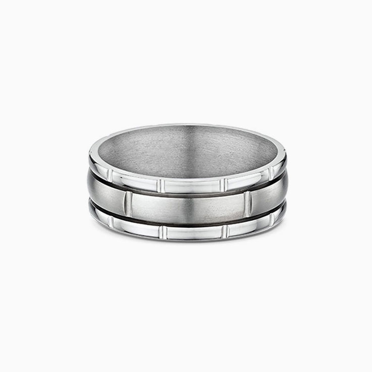 Mens Titanium and gold ring 7211T00