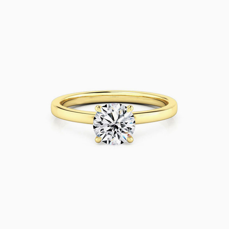 Round Brilliant Cut With Four Claw Engagement Ring