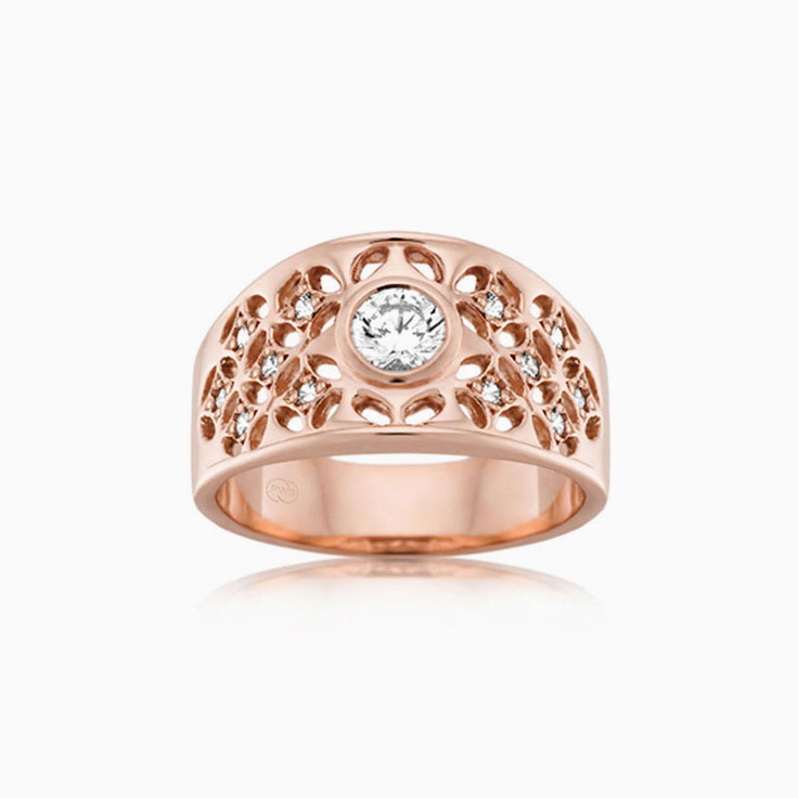 Drop set diamond dress ring J1623