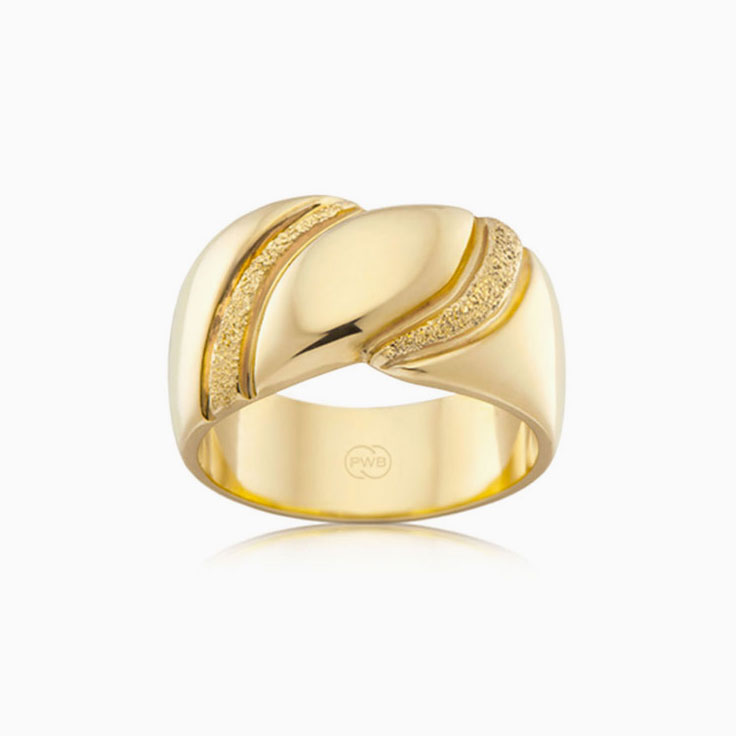Ladies gold dress ring J2901