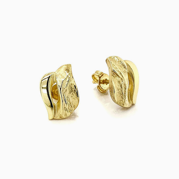 9k Yellow gold studs