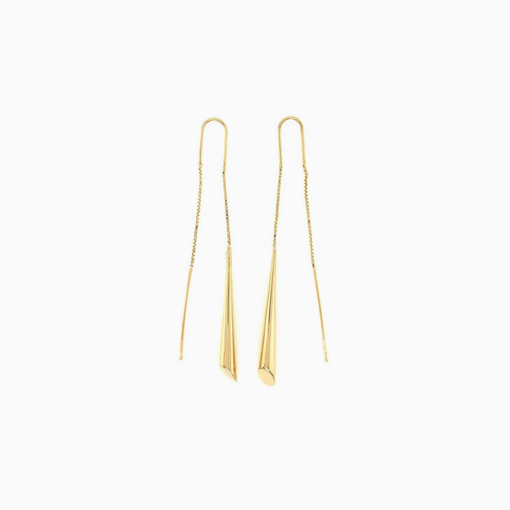 Thread gold earrings C064