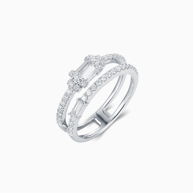 Diamond Double Bar Ring