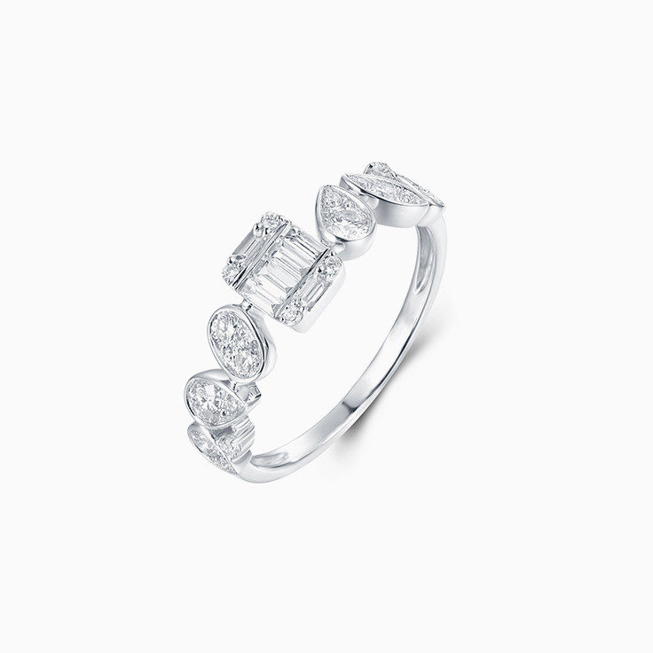 Multi Shape Diamond Ring