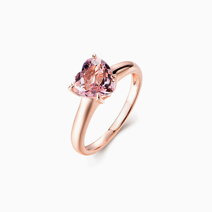 Heart Morganite Ring