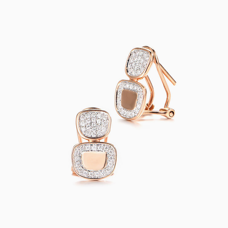 Rosegold Pave Earrings