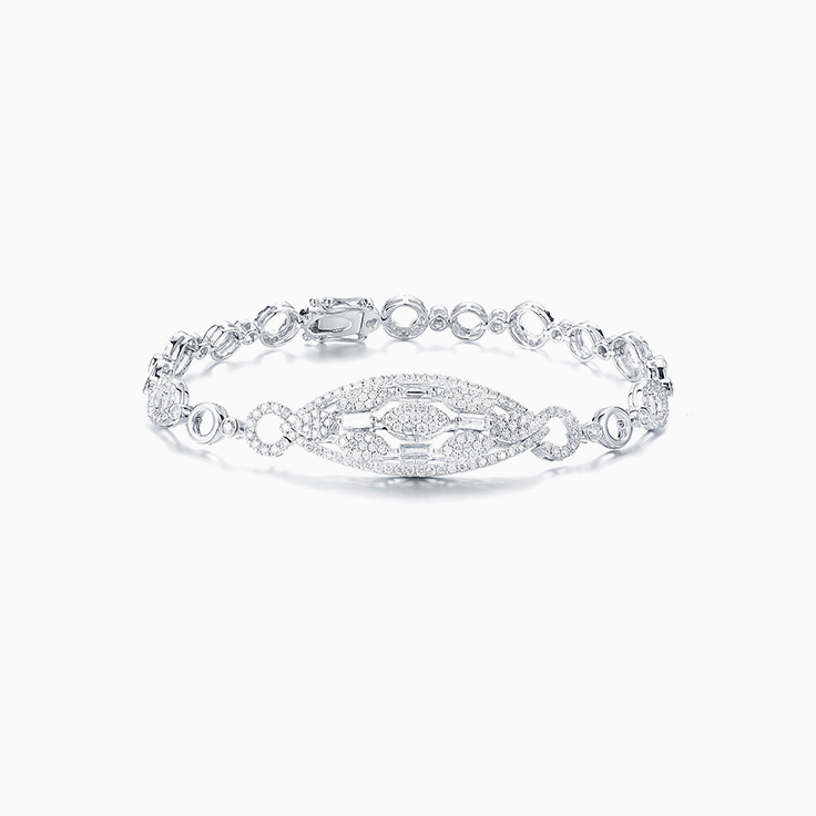 Pear Cluster Diamond Bracelet