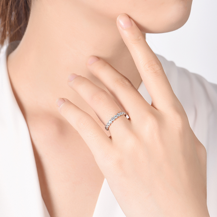 Bezel Stack Diamond Band