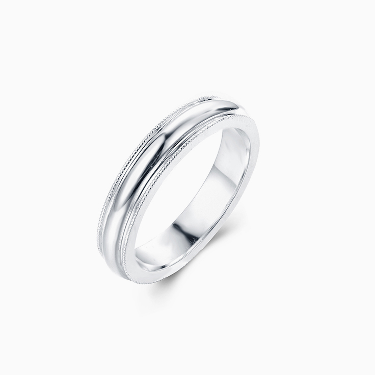 18k White Gold Mens Wedder