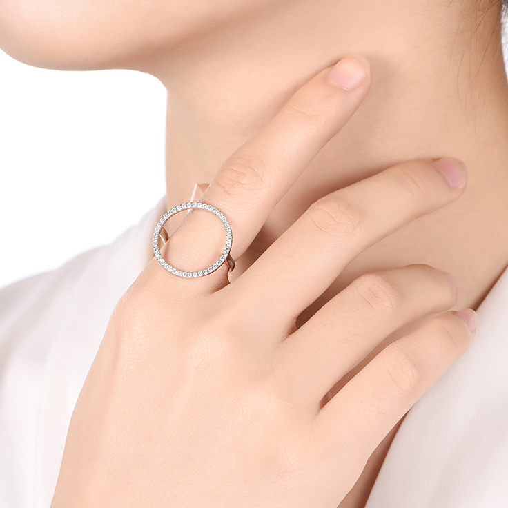 Circle Diamond Ring