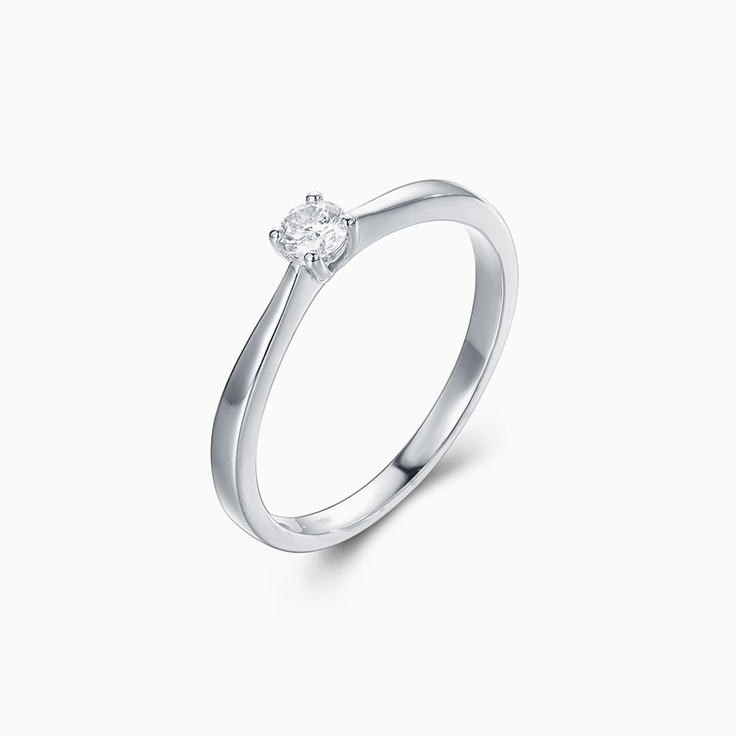 Petite Round Brlliant cut Engagement Ring