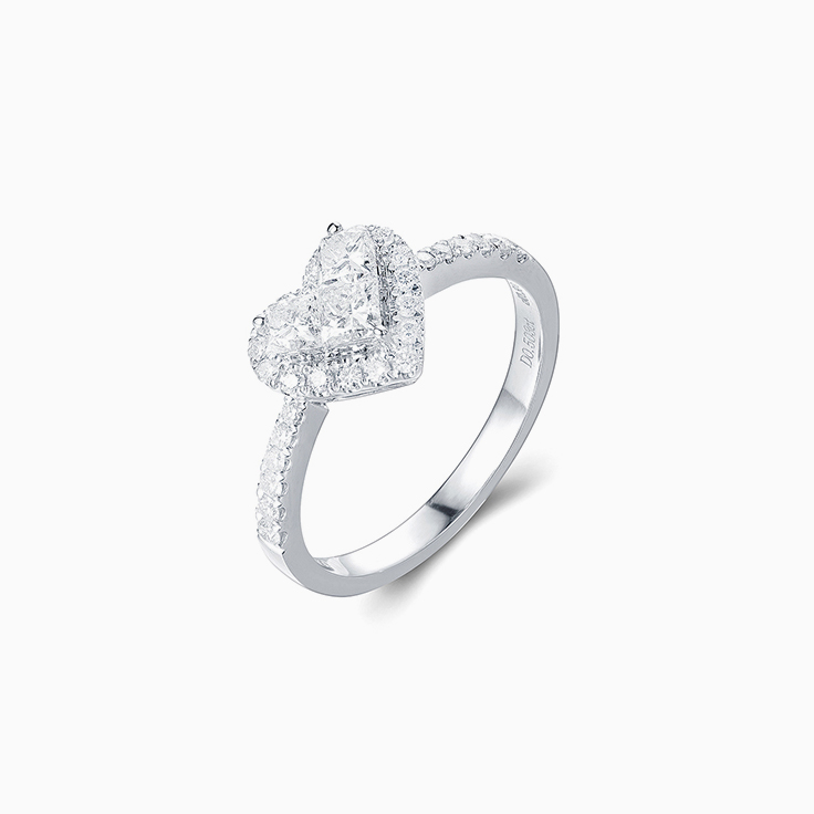 Heart Cluster Diamond Ring