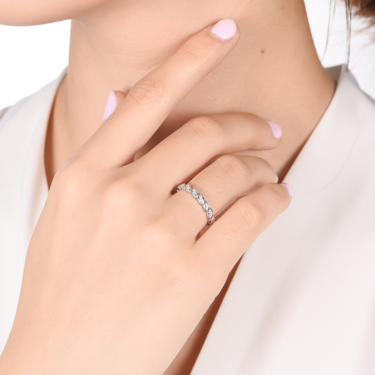 Marquise Shape Wedding band