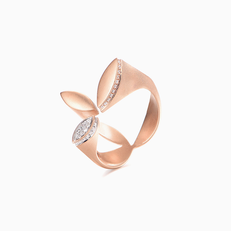 Diamond Petal Ring