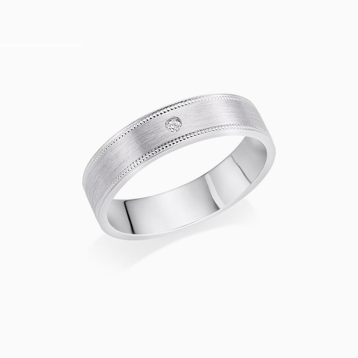 Matt finish Mens Wedding ring