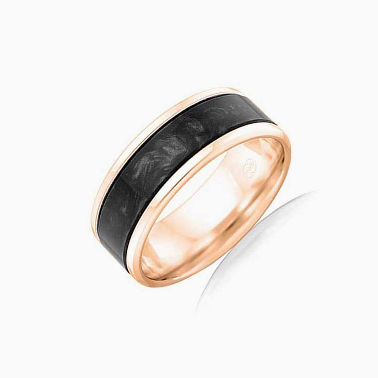 Black Spectrum Mens ring J4371