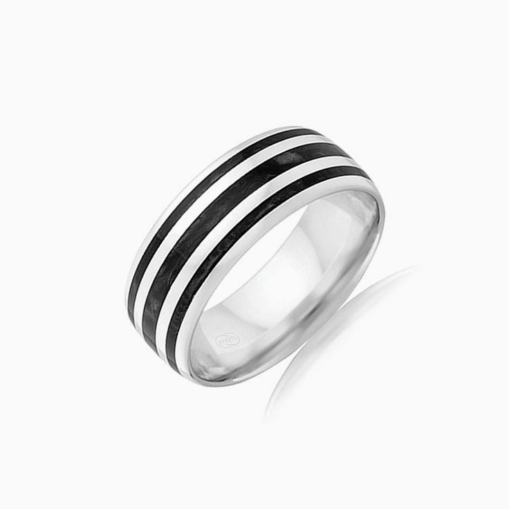 Black spectrum mens ring J4375