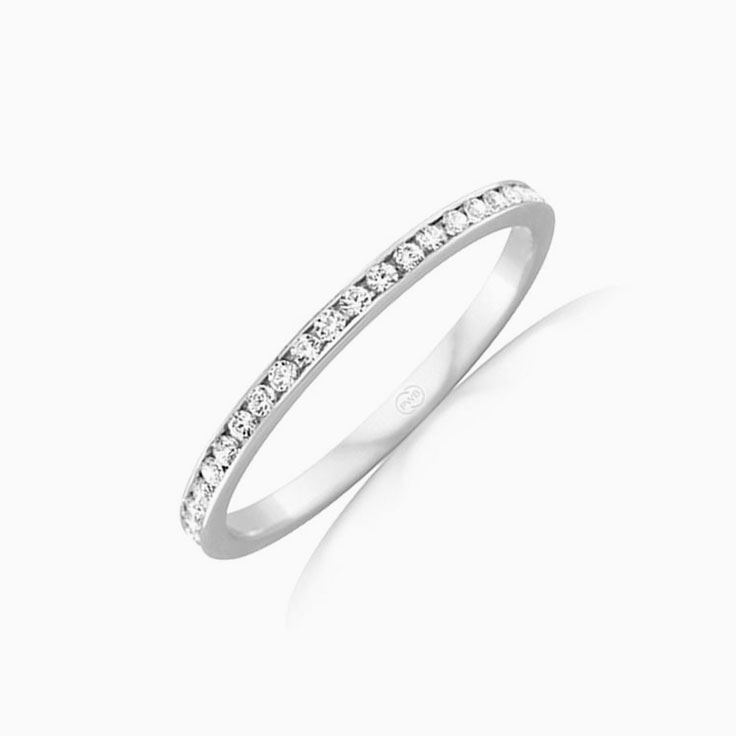Petite Pave set wedding ring F3986