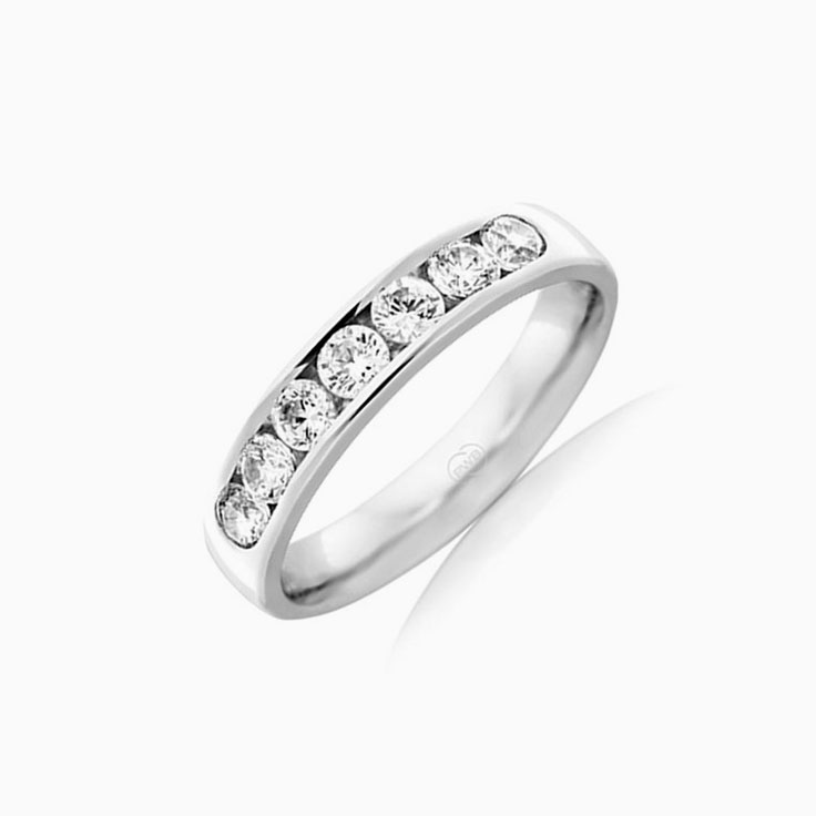 Channel set wedding ring HR4073