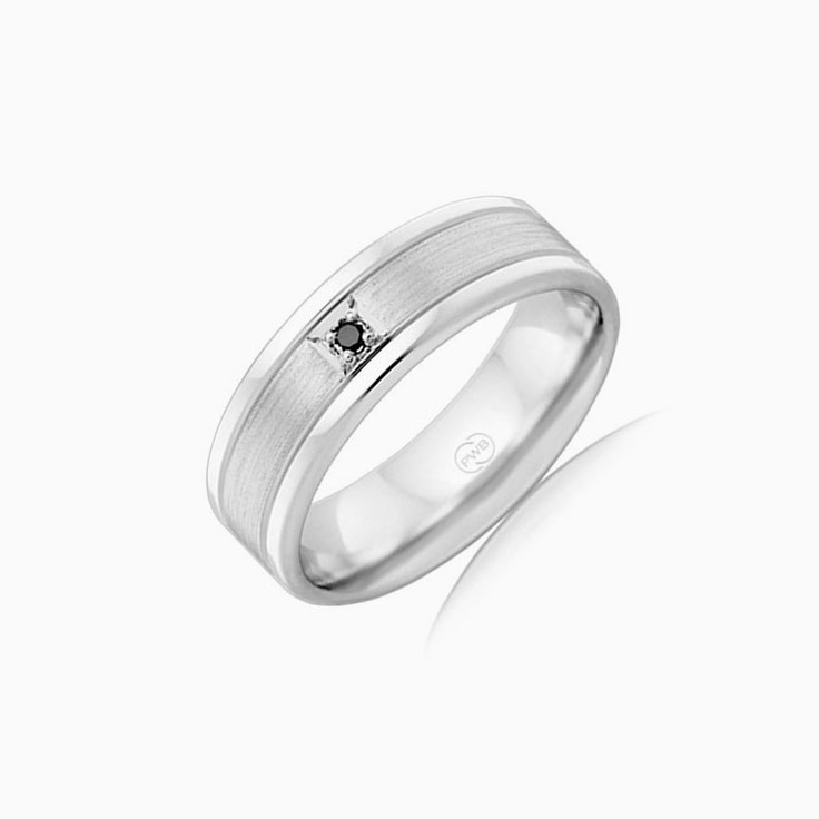 Black Diamond Mens wedding ring F4009