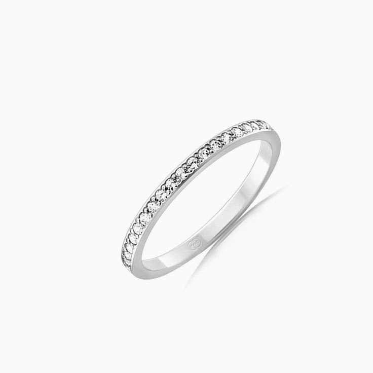 Pave set womens wedding ring F3480