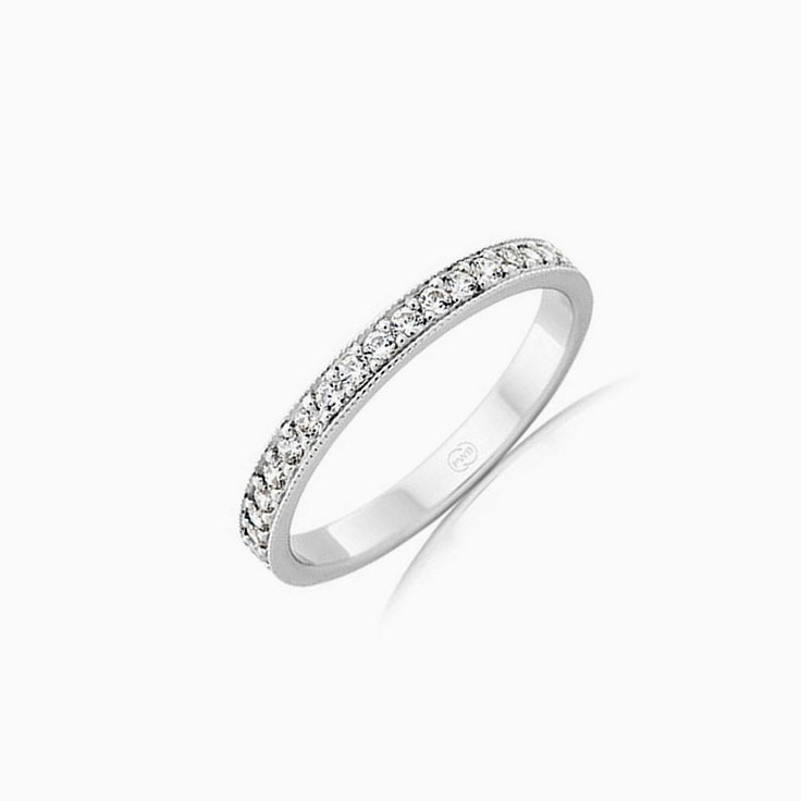 Pave set diamond wedding ring F3742