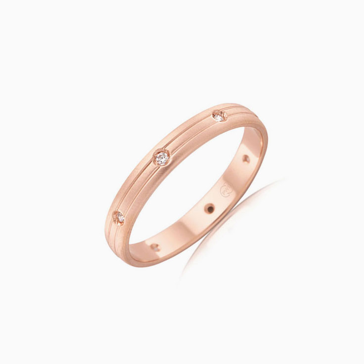 Drop set wedding ring B2633