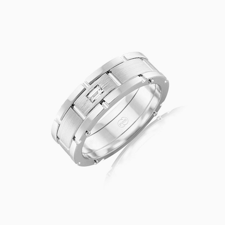 Baguette Diamond mens ring J4004