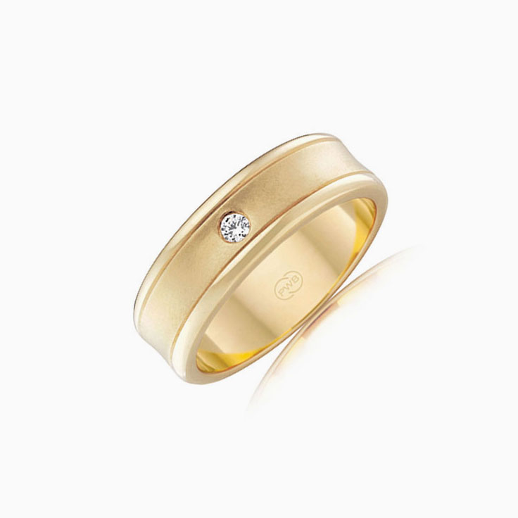 Drop set mens wedding ring WR3559