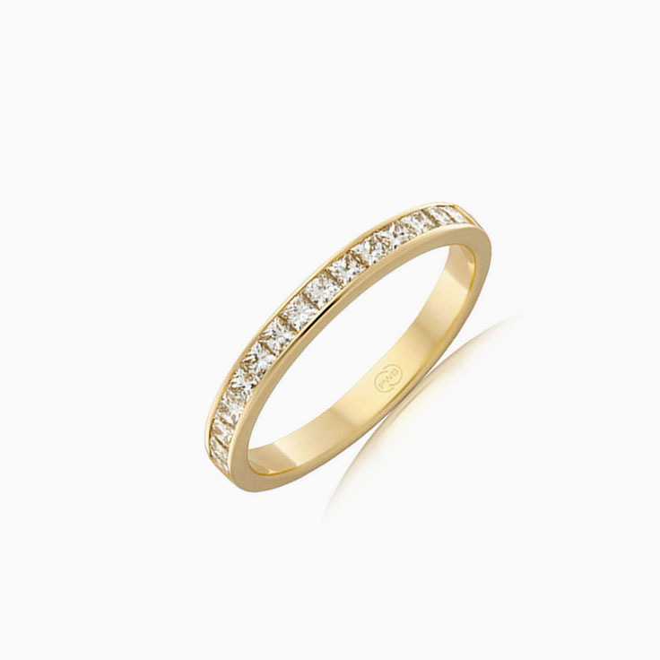 Princess cut wedding ring F4264