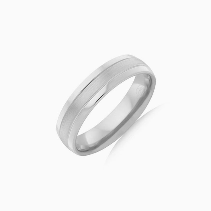 Matt centre mens wedding ring CW4069