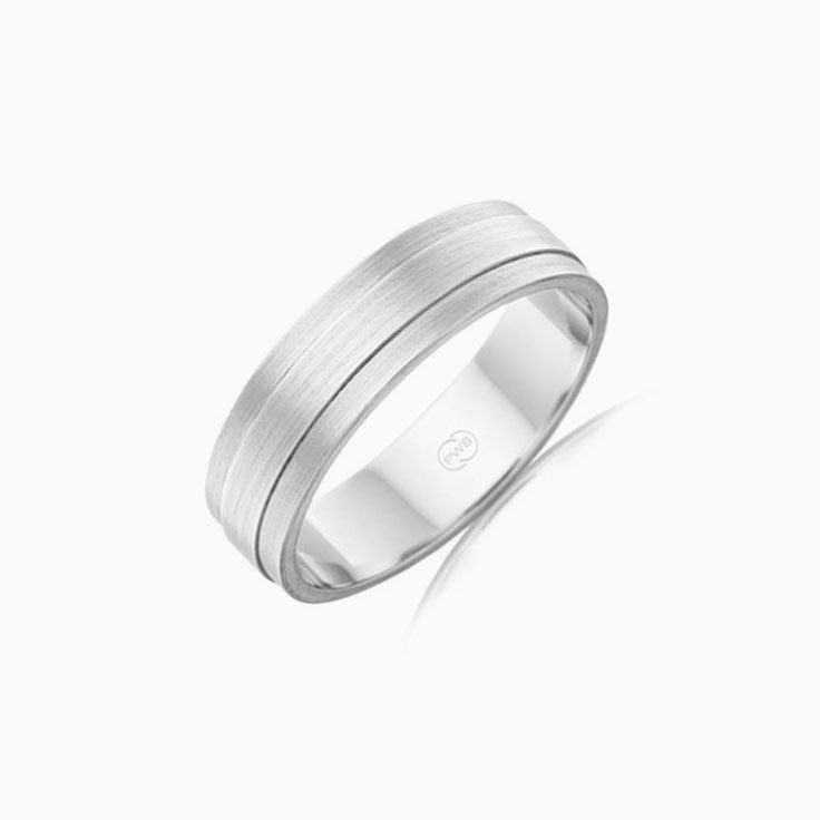 Matt finish Mens Wedding ring F3621