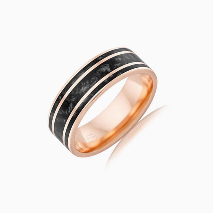 Black spectrum mens ring J4299