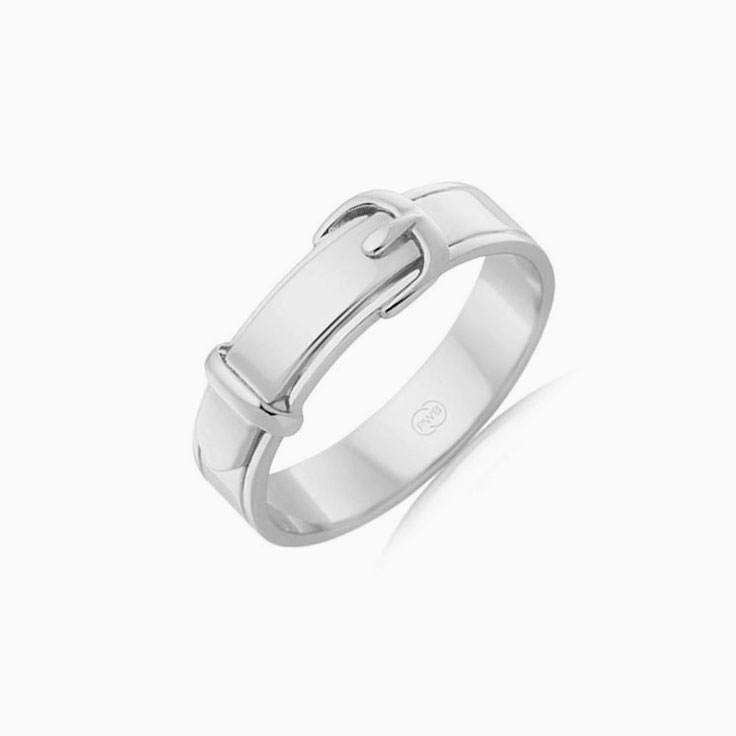 Buckle mens Wedding ring