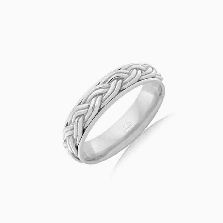 Double plated pattern ring J1482