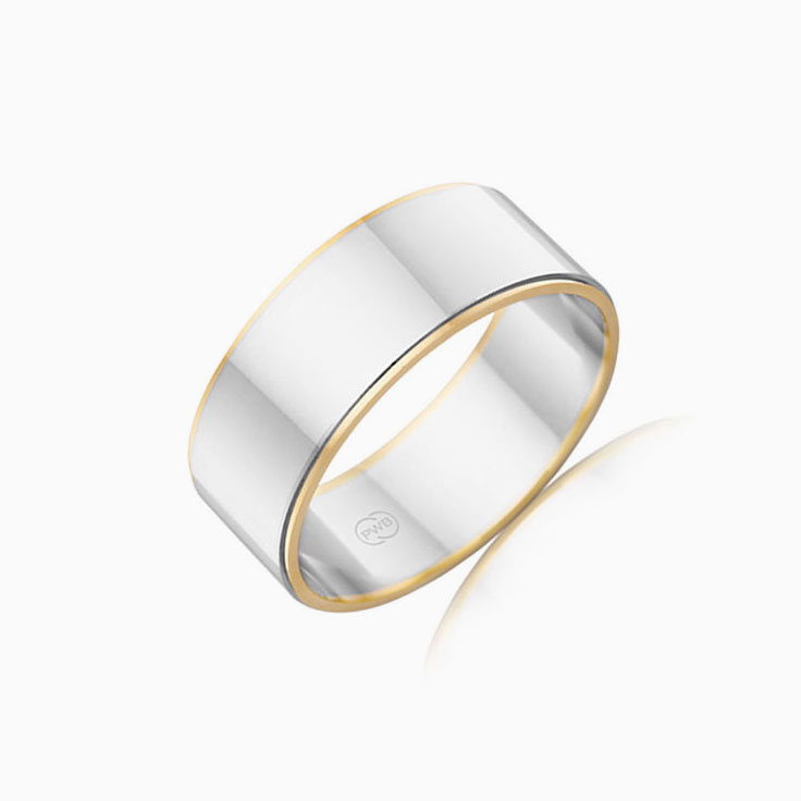 Two tone Mens Ring 2T1080