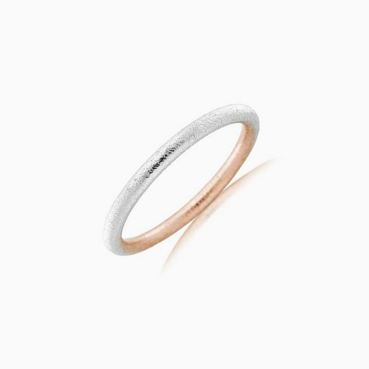 Two tone ladies wedding ring 2T3700