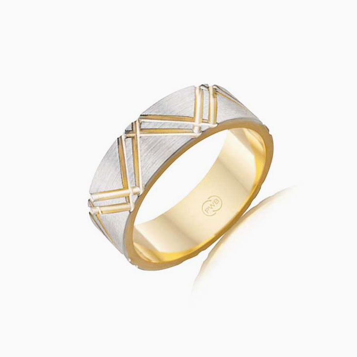 Two tone wedding ring 2T3725