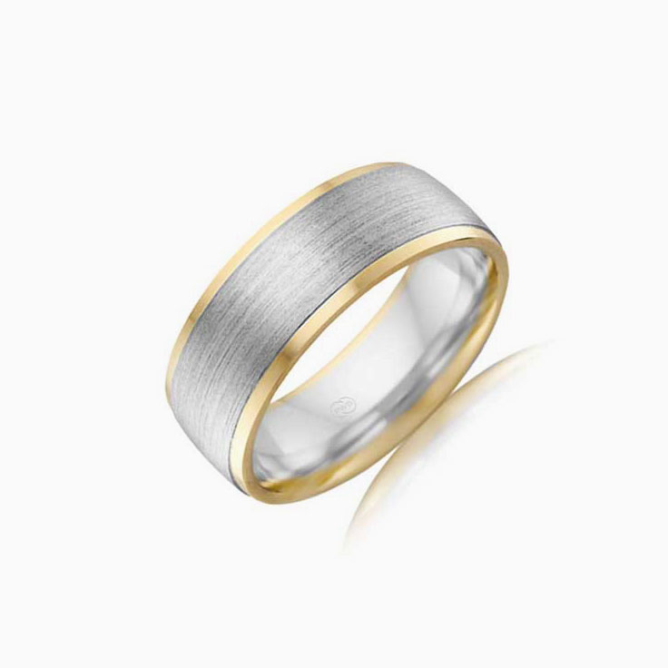 Two tone comfort fit ring 2T3929