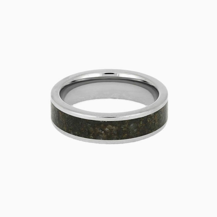 Dinosaur Bone ring In Titanium