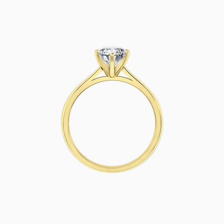 Round Brilliant cut with a cathedral setting engagement ring