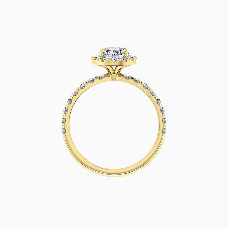 Oval Cut Diamond Engagement Ring With Halo