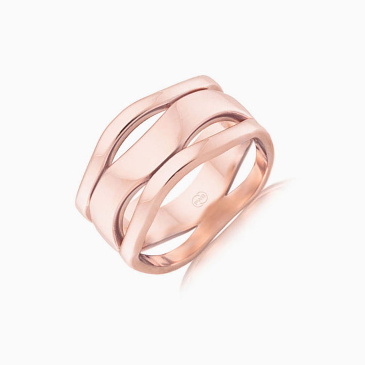 Ladies wave ring WR3202