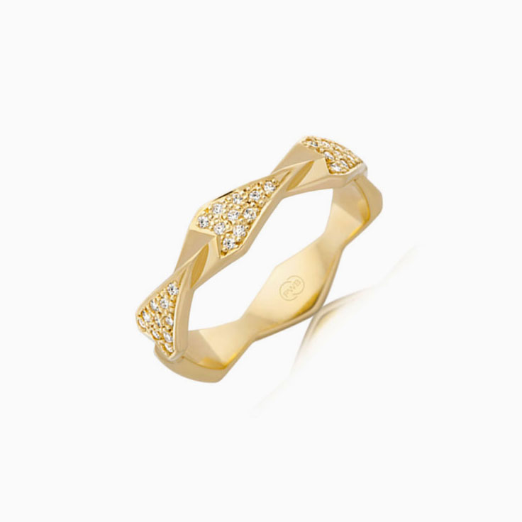 Patterned Diamond Dress ring F4162